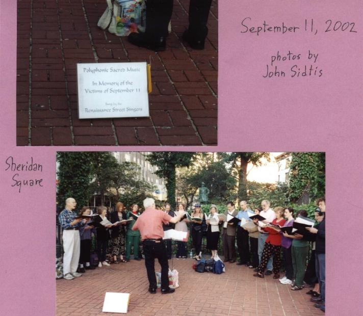 Polyphonic sacred music in memory of the victims of Sept 11